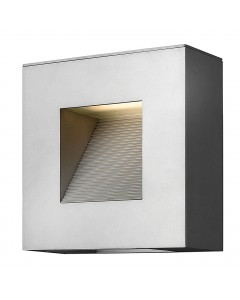 Elstead Lighting Hinkley Luna 2 Light LED Outdoor Small Wall Light In Titanium Finish