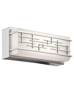 Elstead Lighting Kichler Zolon 14W LED Small Linear Bathroom Wall Light In Chrome Finish (IP44)