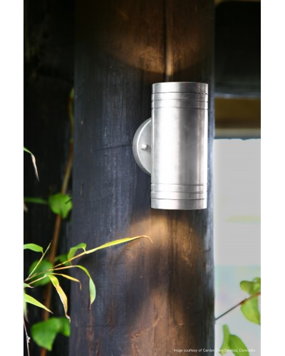 Elite 2 Light LED Outdoor Up/Down Wall Light In Anodised Aluminium