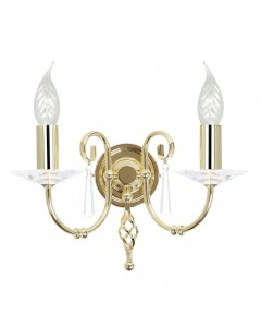 Elstead Lighting Aegean 2 Light Wall Light In Polished Brass Finish