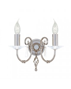 Elstead Lighting Aegean 2 Light Wall Light In Polished Nickel Plating