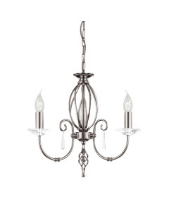 Elstead Lighting Aegean 3 Light Duo-Mount Chandelier In Polished Nickel Plating