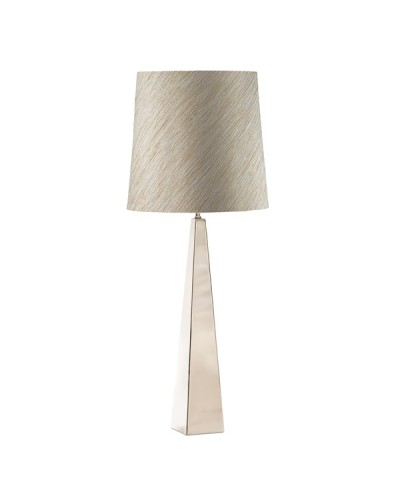 Elstead Lighting Ascent 1 Light Table Lamp In Polished Nickel Finish Complete With Fortune Silver Shade