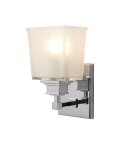 Elstead Lighting Aylesbury 1 Light Bathroom Wall Light In Polished Chrome Finish With Opal Glass Shade (IP44)