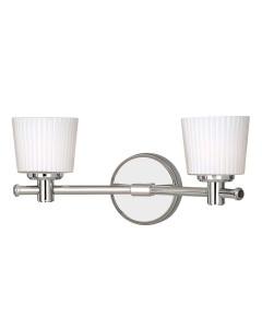Elstead Lighting Binstead 2 Light Bathroom Wall Light In Polished Chrome Finish With Opal Glass Shades (IP44)