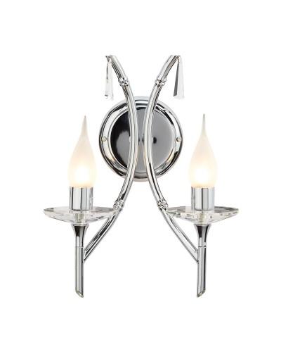 Elstead Lighting Brightwell 2 Light Bathroom Wall Light In Polished Chrome Finish (IP44)