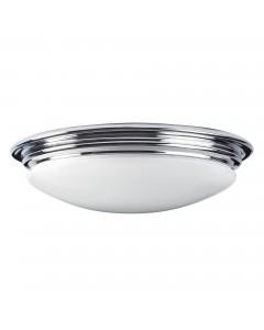 Elstead Lighting Brompton 7W LED Bathroom Flush Mounted Ceiling Light In Polished Chrome Finish (IP44)