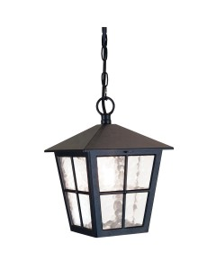Elstead Lighting Canterbury 1 Light Outdoor Chain Lantern In Black Finish