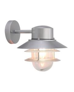 Elstead Lighting Copenhagen 1 Light Outdoor Wall Lantern In Metallic Silver Finish