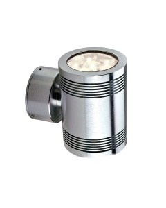 Garden Zone - Elite Large 2 Light LED Outdoor Up/Down Wall Light In Anodised Aluminium
