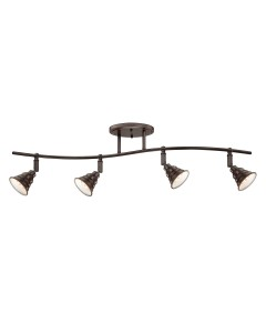 Elstead Lighting Quoizel Eastvale 4 Light Ceiling Spotlight In Palladian Bronze Finish