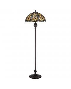 Quoizel Tiffany Belle 2 Light Floor Lamp In Imperial Bronze Finish