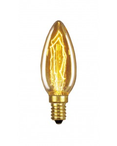 Elstead Lighting Vintage Style Filament Bulb: 25 Watt E14 Small Edison Screw; Candle Style