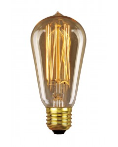 Elstead Lighting Vintage Style Filament Bulb: 30 Watt E27 Edison Screw; Valve Shaped