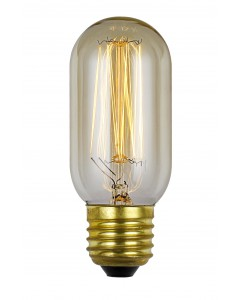 Elstead Lighting Vintage Style Filament Bulb: 30 Watt E27 Edison Screw; Tubular Shaped