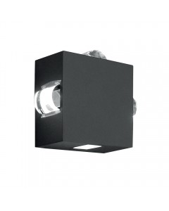 Elstead Lighting Evans 10W LED Outdoor Wall Light In Graphite Finish (4 Way Directional)