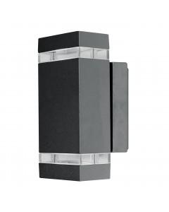 Elstead Lighting Focus LED 7.6W Outdoor Twin Wall Light In Dark Grey Finish