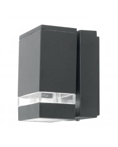 Elstead Lighting Focus LED 3.8W Outdoor Single Wall Light In Dark Grey Finish